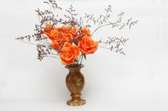 Paper flowers paper flower bouquet orange by FlowerDecoration, $17.00