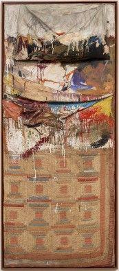 MoMA   Robert Rauschenberg. Bed. 1955