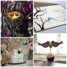 Bird Themed Wedding / For The Birds « David Tutera Wedding Blog • It's a Bride's Life • Real Brides Blogging til I do!