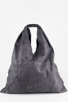 MM6 Maison Martin Margiela Leather Japanese Shopper Bag in Anthracite $380 at www.tobi.com