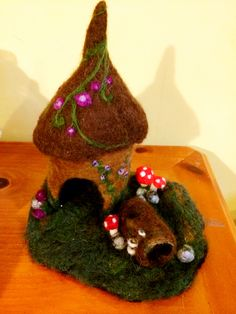 Felted Fairy house playscape