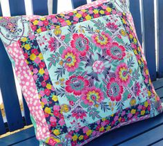 Fussy cut pillow Melissa P. and her amazing talent. Lucky Girl Fabrics!