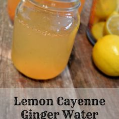 """Lemon Cayenne Ginger Water Recipe - If you are working on healthy eating, weight loss, or achieving a flat tummy, learn more about this detox drink. Lemon Cayenne Ginger Water is a great """"detox"""" drink to help flush your body of unwanted toxins. This drink Detox Diet Drinks, Detox Diet Plan, Detox Juices, Detox Foods, Fat Burning Detox Drinks, Water Recipes, Detox Recipes, Whole30 Recipes, Detox Kur"""