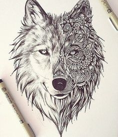 Wolf Face Example with some fractals and psychedelic designs
