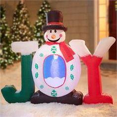 Inflatable Joy Snowman; Sale $59.99
