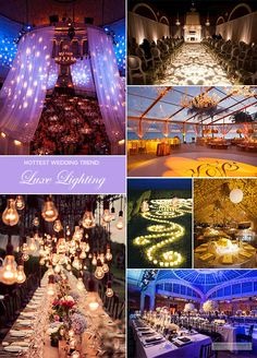 Leave it to a little thing called lighting to totally transform your space. This year, brides are paying extra attention to this décor element and the results are illuminating.
