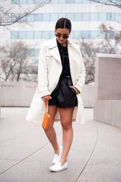 Belted Trench Coat with Sam Edelman Becker Flats