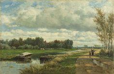 Landschap in de omgeving van Den Haag, Willem Roelofs (I), ca. 1870 - ca. 1875.