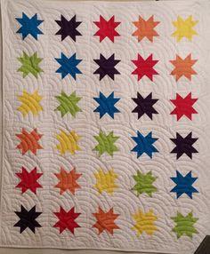 Rainbow Stars Crib Quilt