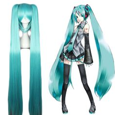 Cosplay Cat Woman - Product ID: Collection: Vocaloid Figure: Hatsune Miku Material: High Temperature Fiber Cap Size: Average Size (adjustable) Wig Length: Hair Density: Medium Hairline: Natural Hairline Color: Blue Catwoman Cosplay, Vocaloid Cosplay, Anime Cosplay, Hatsune Miku Costume, Cosplay Hair, Lolita Cosplay, Cosplay Outfits, Cosplay Wigs, Long Wigs