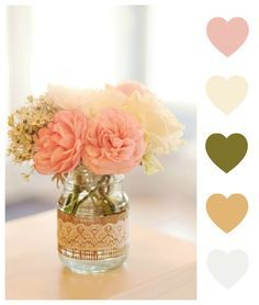 paleta de cores romantica rustica - Pesquisa Google