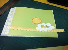 Aprenda a fazer um mini-álbum baby todo em papel. Tutorial mini-álbum. Passo-a-passo mini-álbum para bebê.