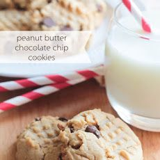 Peanut Butter Chocolate Chip Cookies - Somewhat Simple