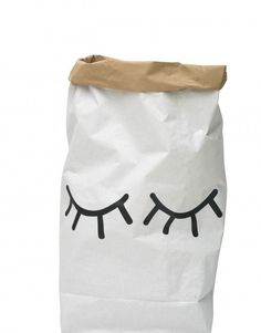 Closed Eye Paper Storage Sack - Spearmint LOVE
