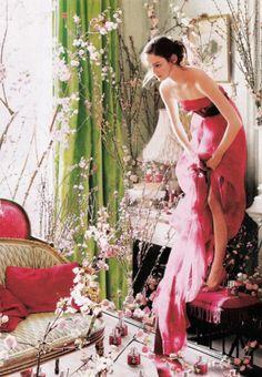 Lisa Cant wearing Carolina Herrera- by Tim Walker