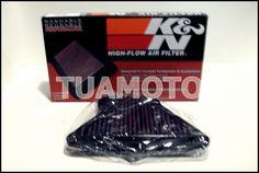 (1) Filtro De Aire K&n Para Kawasaki Ninja Z 1000 Sx Tuamoto !! - $ 1.250,00 en MercadoLibre