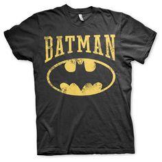 Batman - Vintage Logo heren unisex T-shirt zwart - Superhelden merchandise strips