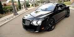 The Bentley Continental GT Speed - Super Car Center Black Bentley, Bentley Gt, My Dream Car, Dream Cars, Bentley Automobiles, Bentley Brooklands, Bentley Continental Gt Speed, Bentley Rolls Royce, Bentley Mulsanne