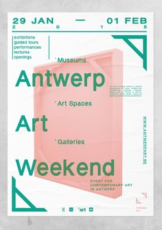 We devised a modular visual identity system, subsequent online platform (web, tablet and mobile) plus various print publications for Antwerp Art, the joint organisation of internationally renowned museums, galleries and other exhibition spaces in our hometown of Antwerp.