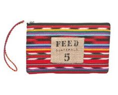 Each FEED Guatemala Pouch will provide 5 school meals though the United Nations World Food Programme (WFP). The FEED Guatemala Cosmetic Pouch is handmade in Guatemala by Nest, a nonprofit organization that empowers artist and artisans around the world, using traditional Ikat fabrics.