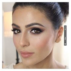 Gorgeous wedding make-up for brown eyes ❤ liked on Polyvore featuring beauty products, makeup and eye makeup