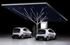 Pininfarina's stunning tree-shaped Antares EV charging station should be more than a prototype -- Engadget