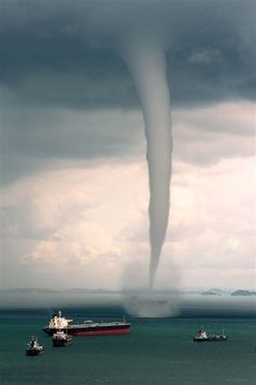 Waterspout in Singapore, 2011