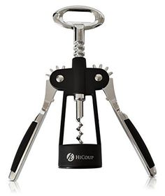 Wing Corkscrews - Wing Corkscrew Wine Opener by HiCoup  Premium Allinone Wine Corkscrew and Bottle Opener With Bonus Wine Stopper ** Be sure to check out this awesome product.