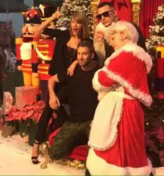 Taylor swift,Calvin Harris at Jimmy Iovines Christmas party,L.A.