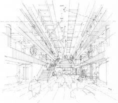 Hatcher Prichard Architects Bristol Cardiff | Architectural Sketches / Interior