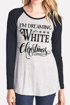 abe3d977d Women Christmas Slogan Print Long Sleeve Casual Top - Black, S. Casual  TopsCasual T ShirtsChristmas SlogansSweatshirt DressGraphic ...