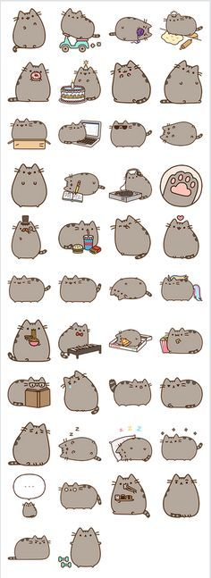 53 Ideas Drawing Kawaii Pusheen For 2019 Smileys, Chat Kawaii, Kawaii Cat, Kawaii Stuff, Cute Cats, Funny Cats, Cats Humor, Funny Horses, Adorable Kittens