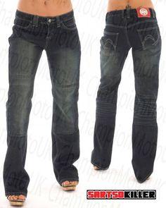 women's kevlar motorcycle jeans | Sartso Killer Jade Ladies Kevlar Reinforced Motorcycle Jeans