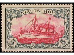 German Colonies Kiautschou, 1/13 CTA. 1900 Barcos. 13 val. Yv. 950 €.