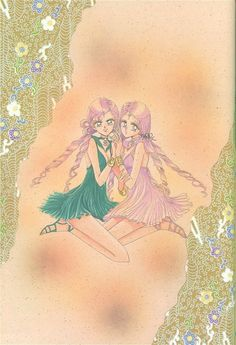 """""""It's a shame that these two didn't appear in the anime, because OSABU and I really like them. For me especially their hairdo and dress ^_^ OSABU likes Sailor Lethe. He likes strong-willed women."""""""