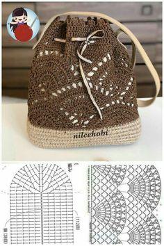 Crochet Gloves Pattern, Crochet Purse Patterns, Crochet Slippers, Crochet Motif, Crochet Stitches, Crochet Doilies, Free Crochet Bag, Crochet Cross, Crochet Handbags