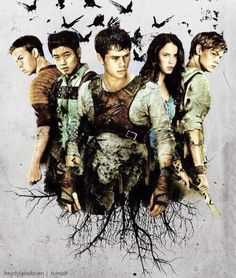 Fan art (Thomas_Dylan O'Brien, Minho_Ki Hong Lee, Gally_Will Poulter, Teresa_Kaya Scodelario, Newt_Thomas Brodie-Sangster)