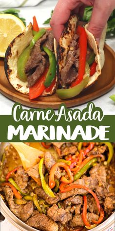 Carne Asada Marinade… an easy delicious dinner waiting to happen, Enjoy! Authentic Mexican Recipes, Mexican Food Recipes, Dinner Recipes, Steak Recipes, Crockpot Recipes, Chicken Recipes, Cooking Recipes, Healthy Recipes, Carne Asada Marinade