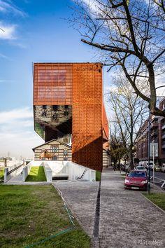 The New Cricoteka building - Tadeusz Kantor museum in Krakow (Cracow) - Podgorze district, Poland
