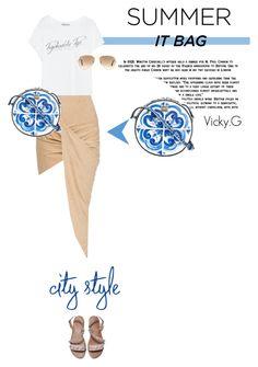 """""""Set # 462 / Summer """" It Bag """" : Dolce & Gabbana 'Glam' shoulder bag"""" by vassiliki-g ❤ liked on Polyvore"""