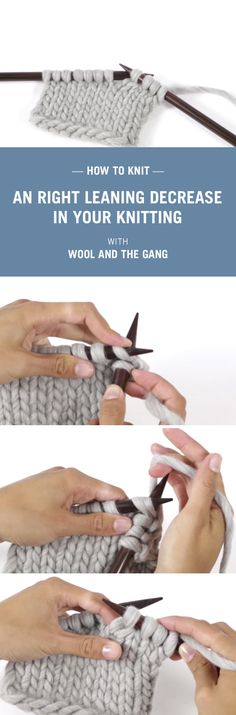 Knitting tips with Wool and the Gang.