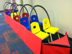Taste and See: VBS Decorating Recap: The Classrooms Carnival Games For Kids, Water Games For Kids, Carnival Themes, Indoor Activities For Kids, Circus Theme, Family Activities, Outdoor Activities, Bible School Crafts, Bible Crafts
