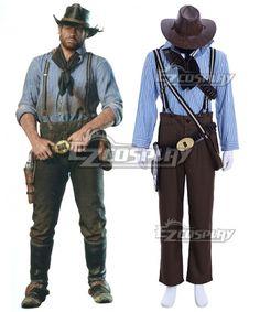 Red Dead Redemption Arthur Morgan Cosplay Costume Full Set Gunner Costume