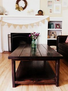 Ana White DIY farmhouse coffee table. Weekend project – $50!
