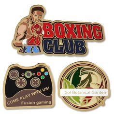 Photo Etched Lapel Pins - Custom - Boxing, Games, Sports, Hobbies, Special Interest - Flytrap Promotional #lapel #pin #specialinterest #pride #recognition www.flytrap-promotional.com