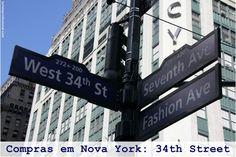 Viajar para Nova York e não pensar em compras é praticamente impossível, certo?! Então neste post vamos dar algumas dicas de onde encontrar aquelas lojas que são o sonho de consumos de quase todos os turistas. Anote esta rua na sua agenda: 34th. Simples assim!