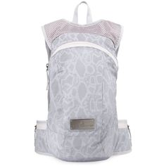 adidas by Stella Mc Cartney Snake-Print Tech-Fabric Backpack ($150) ❤ liked on Polyvore featuring bags, backpacks, reflective silver, top handle bag, adidas backpack, knapsack bags, rucksack bag and python bag