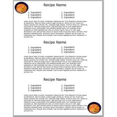 Free Recipe Card Templates For Word Inspiration How To Create A Cookbook Template  Cookbook Template Template And .