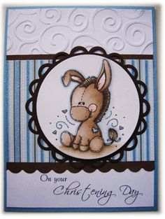 Love this one......great layout...they made into baby's christening card