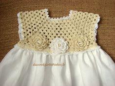 Ropa de crochet vestido primavera / verano para el bebé por Dachuks